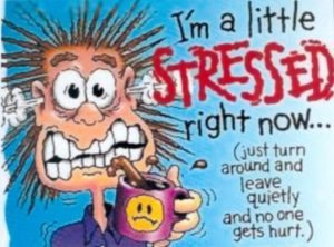 Stress door werkdruk